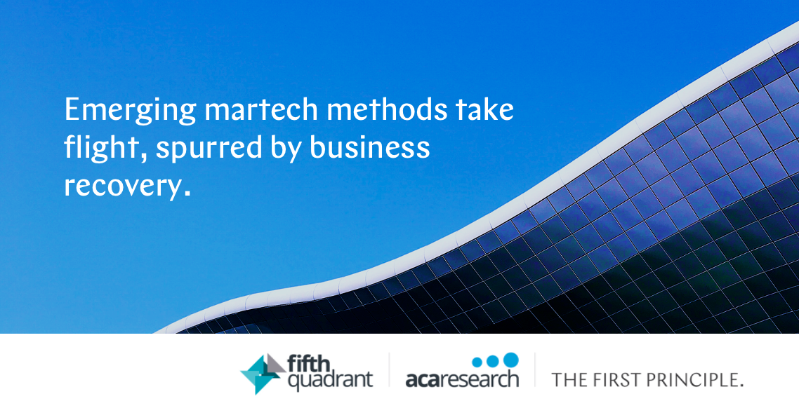 Emerging martech methods take flight, spurred by business recovery